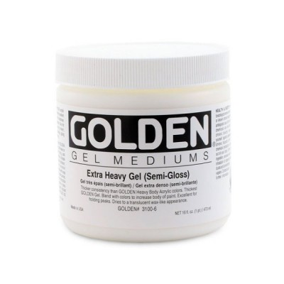 Golden高登Extra Heavy Gel Semi-Gloss壓克力半增光特厚塗凝膠(237ml 3100-5/946ml 3100-7/3.78L 3100-8)