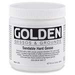 Golden高登Sandable Hard Gesso壓克力可打磨硬質打底劑(237ml 3551-5/946ml 3551-7/3.78L 3551-8)