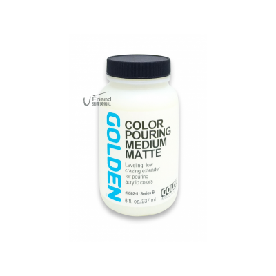 Golden高登Color Pouring Medium Matte壓克力消光潑灑媒劑(237ml/3502-5)