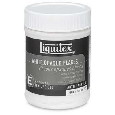 Liquitex白鱗片WHITE OPOQUE FLAKES 237ml